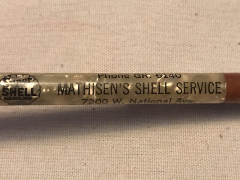 MATHISEN'S SHELL GAS SERVICE Vintage Advertising Mechanical Pencil