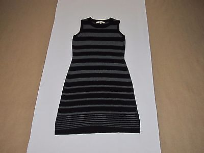 Women's Evan Picone 1 Piece Two Tone (Black/Gray) Sleeveless Dress Size Small
