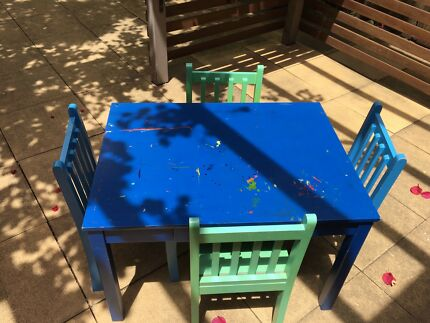 Kids Wooden Table U0026 Chairs
