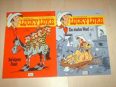 Sammlung Comics 2 Lucky Luke Bände 90 Auf eigene Faust & 91 Ein Starker Wurf 1A
