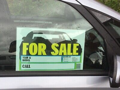 2x Large (VEHICLE FOR SALE) Signs