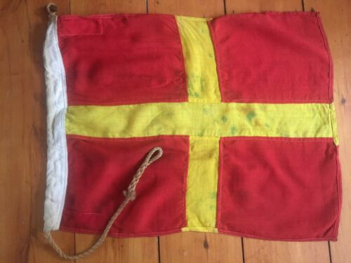 "Vintage Nautical Signal Flag ""R"" Romeo Navy Marine Maritime RAN Ship Decor"