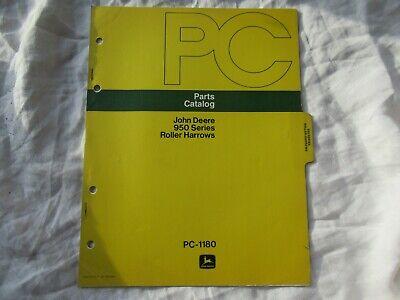 1975 John Deere 950 Roller Harrows Parts Catalog Manual