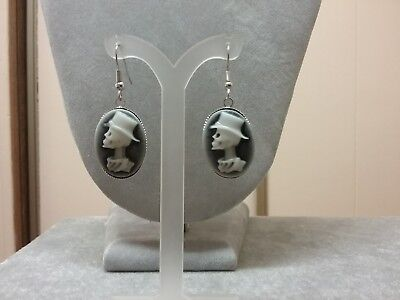 day of the dead male cameo earrings - Day Of The Dead Male