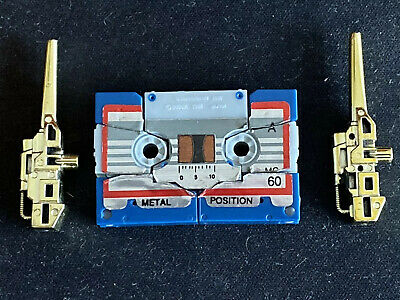 VINTAGE Transformers G1 1986 Cassette Tape Eject Gold Weapons 100% Complete