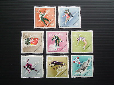 Hungary 1968.  Mi 2379-86.  Full set of  Winter Olympic Games in Grenoble.  MNH