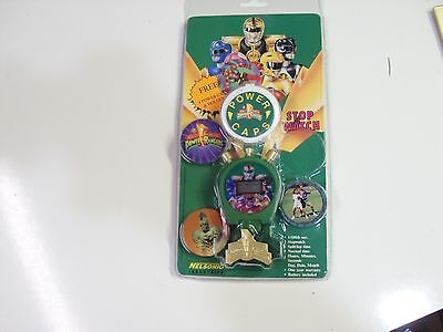 POGS POWER RANGERS STOP WATCH WITH POGS AWESOME STILL IN PACKAGE - Power Rangers Awesome
