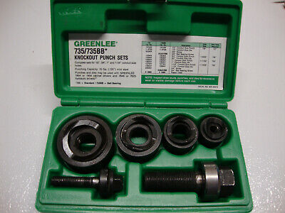 Greenlee 735bb Ball Bearing Knockout Punch New