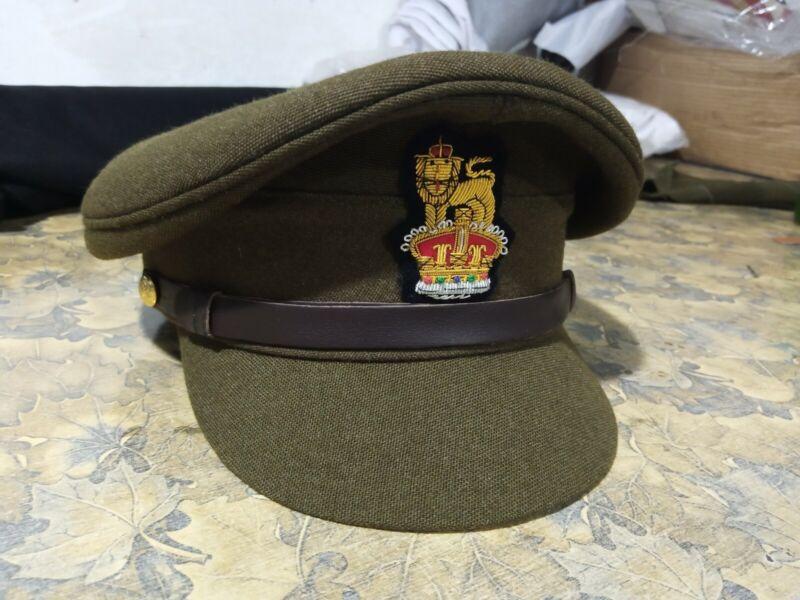 WW2 British Army General Staff Officers Visor Cap Military Peak Hat - Repro