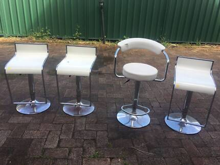 Bar Stools x 4 Plus Bathroom Tallboy Drawers