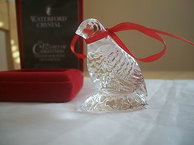 WATERFORD 12 DAYS 1995 1st ED PARTRIDGE ORNAMENT BOXED ~ NO LOOP