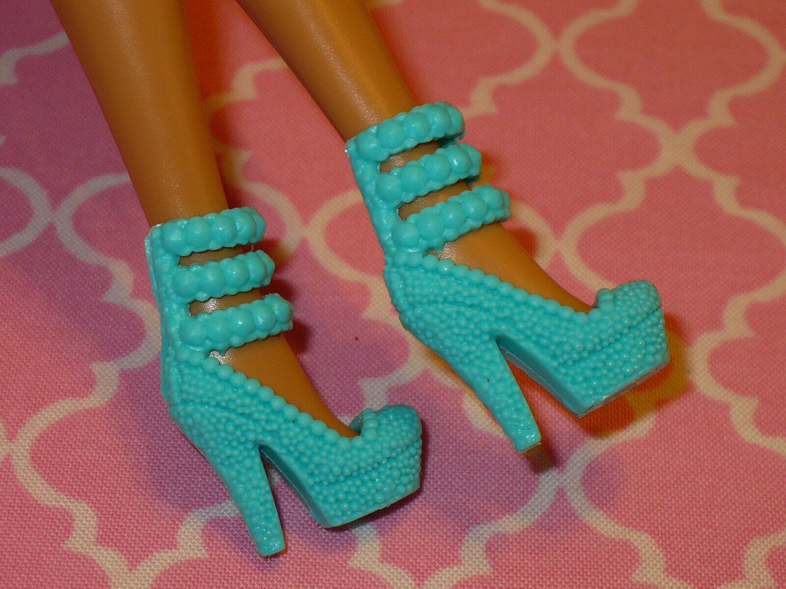 Mattel Barbie Doll Shoes FASHIONISTAS FASHION FEVER AQUA FANCY HIGH HEELS - $10.39