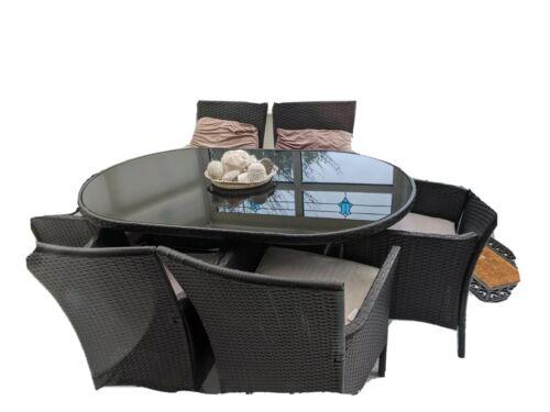 Garden Furniture - Used garden patio furniture set 6 chairs
