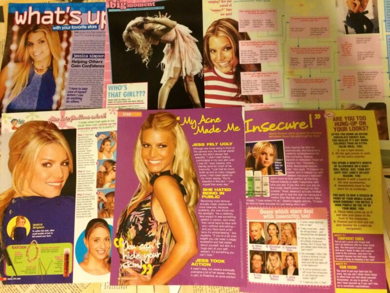 Jessica Simpson, Lot of FIVE  Full and Two Page Clippings
