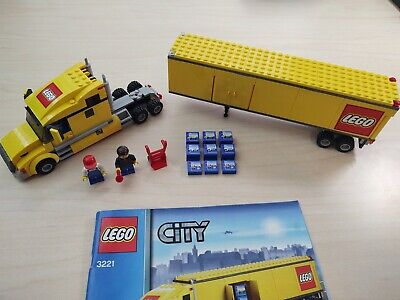 Lego City Yellow Truck 3221 100% Complete Retired Minifigures Accessories Manual