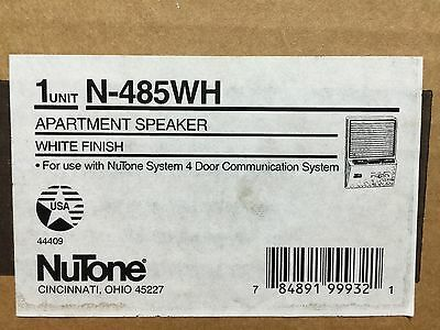 *NEW* Nutone N-485WH Apartment Intercom Speaker for 478 door entry amplifier 485