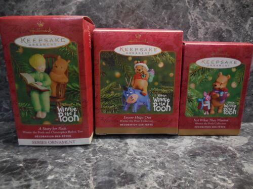 3 vintage hallmark winnie the pooh ornaments
