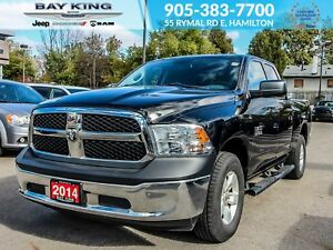 "2014 Ram 1500 SXT QUAD CAB 4X4, 17"" WHEELS, FLEX FUEL, AC"