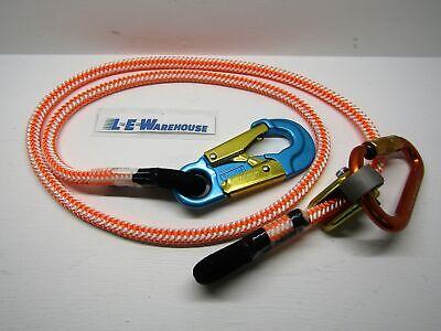 12 X 6 Wire Core Lanyard Kit W Rope Grab Carabiner - Aluminum Swivel Snap