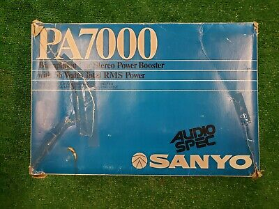 Sanyo Car Power Amplifier - Model #PA 7000 - Maximum Power 28w + 28w Total 56w Maximum Power Amplifier