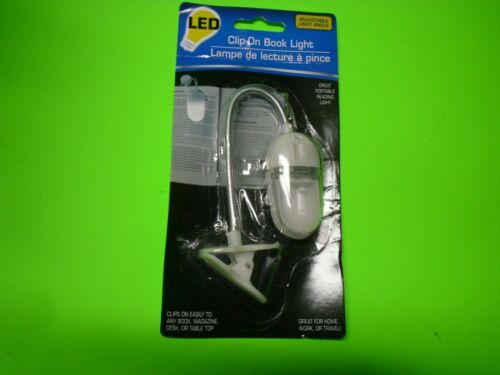 NEW Adjustable Clip-On LED Book Light Great Portable Reading Light FREE SHIP