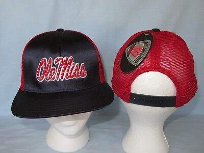 OLE MISS REBELS Big Satin Snapback CAP/HAT T.O.W. Fits All Womens Sizes NWT $25 ()