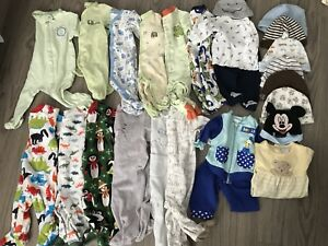 Lot of pijamas baby boy 0-3-6 months