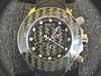 INVICTA RESERVE 52MM CARBON COLLECTIN SWISS MADE WATCH(8 SLOT DIVE CASE INCLUDED