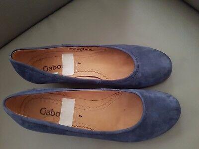 Gabor Damen Pumps Schuhe WildLeder blau Gr 7 / 40.5