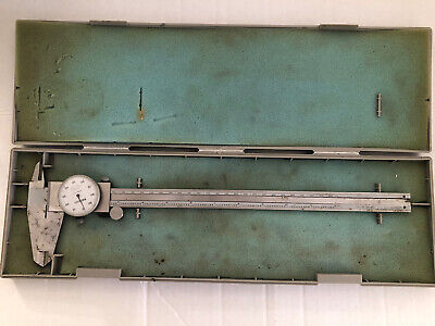Mitutoyo Dial Caliper 0-12 Inch 505-645-50 With Plastic Storage Case