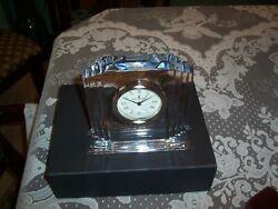 Waterford Lead Crystal Metropolitan  Clock w/Box.Made in Ireland
