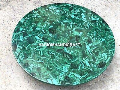 Marble Console Table Top Random Malachite Inlaid Exclusive Restaurant Decor M001