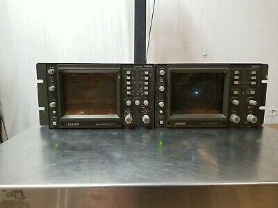 Lot Of 2 - Leader In Rack 5860v Waveform Monitor 5850v Ntsc Vectorscope .