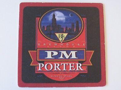 Beer Bar Coaster   Bjs Pm Robust Dark Porter   Nationwide Brewhouse Restaurants