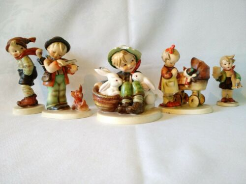 5 Hummel Figurines – Germany – all signed, etc. – 1960's