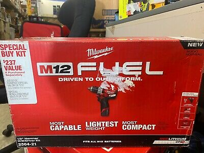 Milwaukee M12 Fuel Brushless Cordless 12in. Hammer Drill Kit 2504-21
