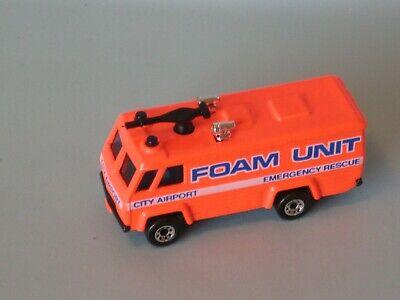 Matchbox Airport Foam Unit Command Fire Rescue Neon Toy Model Car 75mm UB