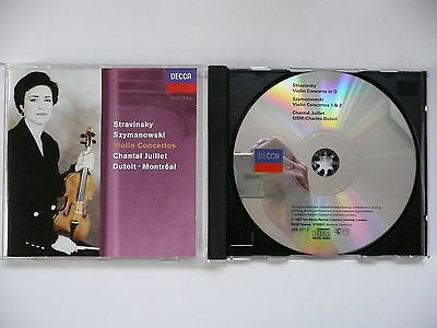 Juillet plays Stravinsky & Szymanowski Violin Concertos Dutoit Decca 436 837 CD