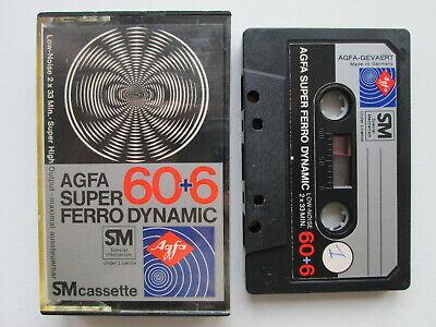 TAPE Vintage AUDIO CASSETTE  AGFA SUPER FERRO DYNAMIC 60+6 SM GERMANY