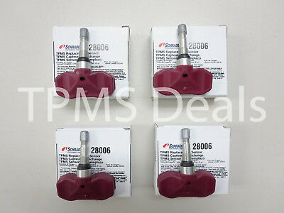 1999 Chevrolet Corvette C5 New Schrader 28006 TPMS Set OE Replacement 315 mhz