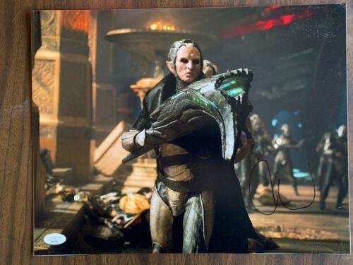 Thor Dark World Christopher Eccleston Autographed Signed 11x14 Photo JSA COA #4