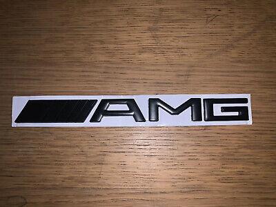 Amg emblem in schwarz Matt für Mercedes B C CLA CLS G GLA E SLK S uvm.