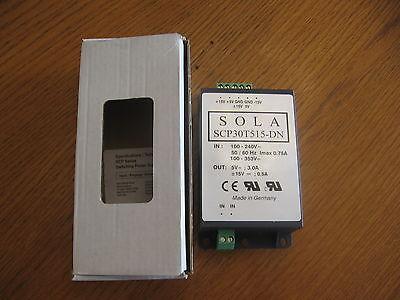 New Sola Dc Power Supply Scp30t515-dn - 15vdc 5vdc