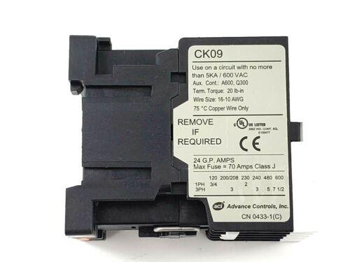 ACI, Advance Controls, CK09, Contactor, 110-120V, 50-60Hz