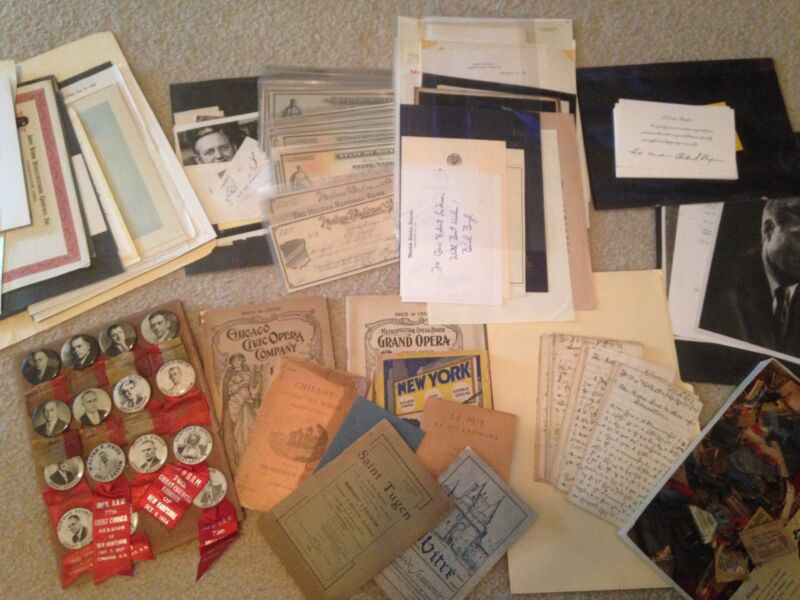 Large Lot of Ephemera, Autographs, Pins and more