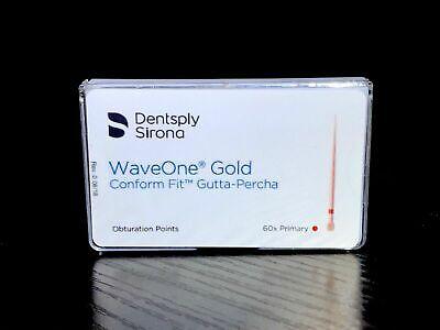 Dentsply Sirona Waveone Gold Gutta Percha Obturation Points 60x Primary Red