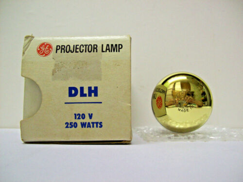 DLH Projector Projection Lamp Bulb 250W 120V GE *AVG. 15-HOUR LAMP *HAS FLAKES*