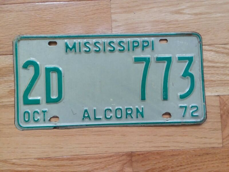 1972 Mississippi License Plate