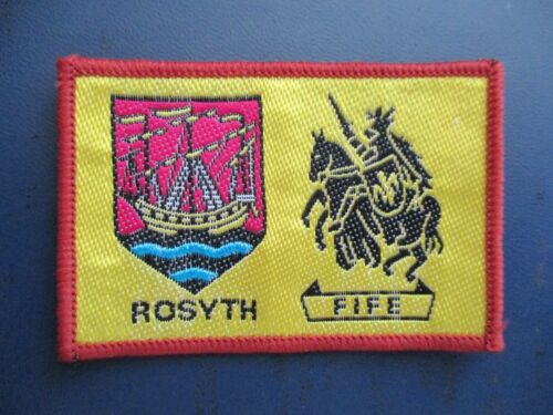 SCOUTS OF SCOTLAND - SCOTTISH FIFE ROSYTH DISTRICT SCOUT PATCH