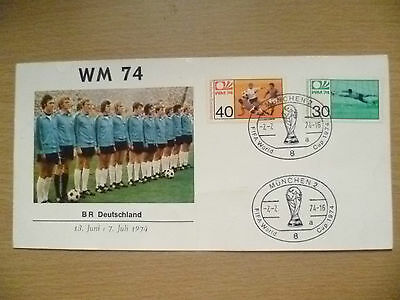 1974 WORLD CUP FIRST DAY COVER BR GERMANY, 13 June